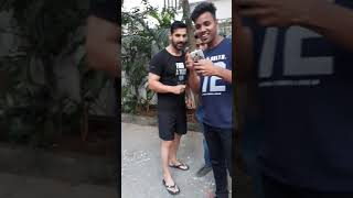 Meeting with john abraham  , takeing john 's sir autograph on my i phone