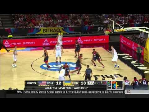 watch Fiba 2014 USA VS Ukraine 1st Half HD