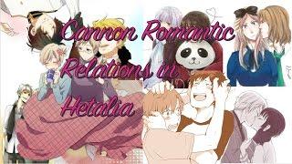 Canon Romantic Relations In Hetalia (part 1)