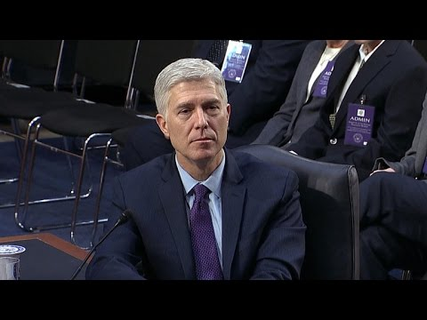Judge Gorsuch says he will stand up to Trump