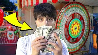 Winning LOTS of CASH at the Carnival!