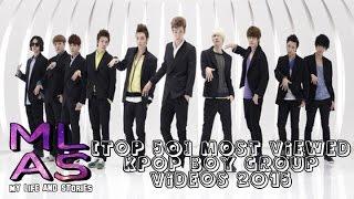 [TOP 50] Most Viewed KPOP Boy Group Videos 2015