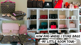 UPDATED HOW & WHERE I STORE MY BAGS + NEW LV&CHANEL Reveal! (ROOM TOUR)