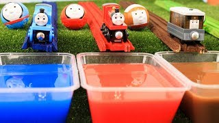 LEARN COLORS FOR CHILDREN|Thomas and Friends Toy Trains Rail Rollers|BEST Learning Video for Kids