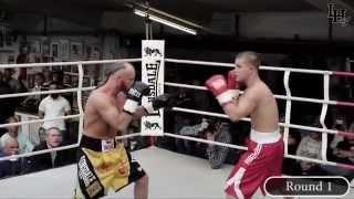 Sebastian Tlatlik vs. Sergej Vib [Boxkampf int. dt. Meisterschaft Super Federgewicht 24.04.2015]