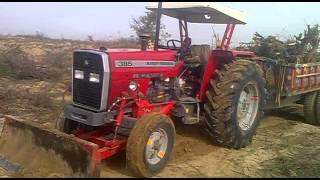 Bahawal khan landazi mf 385 tractor video