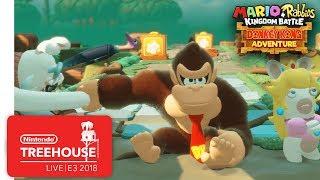 Mario + Rabbids Kingdom Battle: Donkey Kong Adventure Gameplay - Nintendo Treehouse: Live   E3 2018