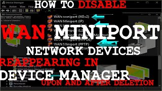 How to delete WAN miniport devices in your device manager (Easy Fix)