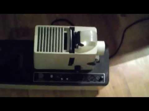 Vintage Dukane Micromatic II Filmstrip Projector Startup
