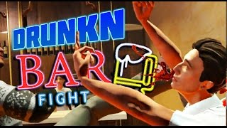 DRUNK IDIOT DESTROYS ENTIRE BAR | Drunkn Bar Fight Funny Moments (HTC Vive Virtual Reality)