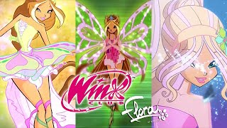 Winx Club: Flora All Transformations Up To Tynix!