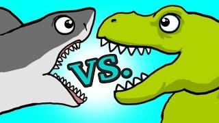 """My Cute Shark Attack Cartoon #45 (Team SHARK vs. ROBOT DINO +BEST OF!!) kids cartoon!"