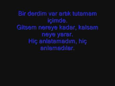 Mor Ve Ötesi Bir Derdim Var With lyrics