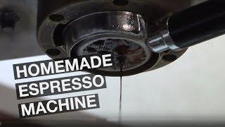 Homemade espresso machine