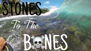 STONES may BREAK your BONES | Bodyboarding POV | Hawaii 2017 Honolii
