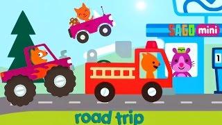Kids Garage Fire Truck - Car Factory Dream Cars Factory| Sago Mini Road Trip: Monster Truck CAR WASH
