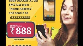 Launch New Docoss x1 smart phone Just Rs.888 Booking start now
