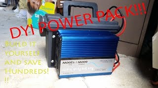 PORTABLE POWER PACK- How to DIY and build one on a budget