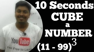 How to CUBE a number Faster (Speed maths)