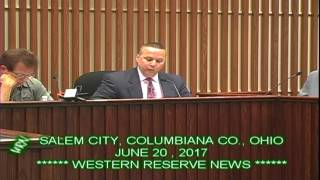 CITY OF SALEM COLUMBIANA COUNTY OHIO COUNCIL MEETING JUNE 20 2017 SOLICITOR EXPLAINS