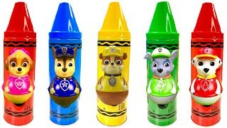 Paw Patrol  Fun Colors Crayons Surprise Toys Play Doh Video for Children