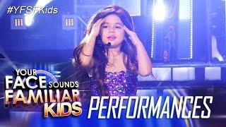 Your Face Sounds Familiar Kids: Xia Vigor as Selena Gomez