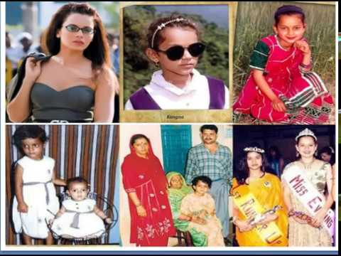 CHILDHOOD IMAGE OF INDIAN EVER GREEN ACTRESS KANGANA RANAUT