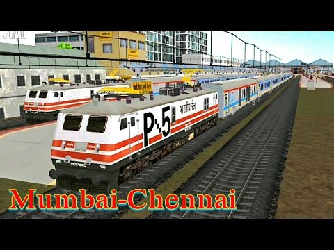 Mumbai to Chennai gatiman express|indian train simulator