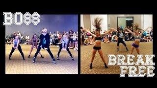Fifth Harmony BO$$ & Ariana Grande Break Free at VIP - @brianfriedman & Sophia Lucia