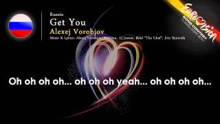 Alexej Vorobjov 'Get You' Russia   ESC 2011   onscreen lyrics
