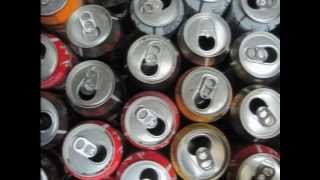 Placa solar casera - Brico-Reciclaje-Reciclatge -Solar air heater  (Beverage can recycling)
