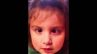 Hannah crossing her eyes