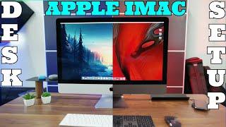 Apple imac desk setup 2019 - simple easy cute clean - computer table design - music - SCREENSHOTZ
