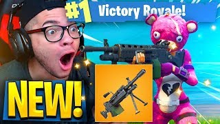 *NEW* OVERPOWERED LMG GAMEPLAY in Fortnite: Battle Royale! 50 v 50 v2 IS THE BEST GAME MODE EVER!