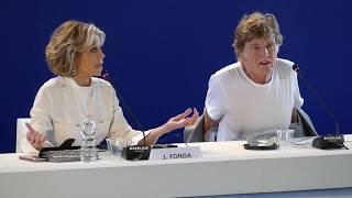 Jane Fonda and Robert Redford press conference Venice Film Festival 2017