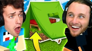 CAMPING BED WARS CHALLENGE | Minecraft Bed Wars