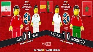 Iran vs Spain 0-1 • Portugal vs Morocco 1-0 • World Cup 2018 (20/06) Goals Highlights Lego Football