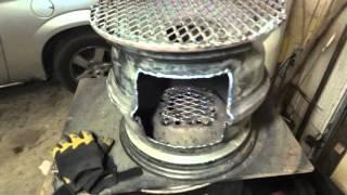 Steel Wheel Fire Pit / Cook Stove (Wheel Rim FirePit)