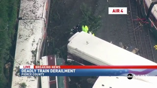 Train derailed in Olympia, Washington   ABC News Special Report