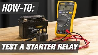 How To Test A Motorcycle, ATV & UTV Starter Relay