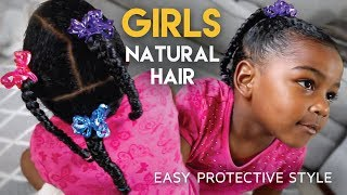 #GirlsCount   QUICK Protective Hairstyle For Girls - Natural Hair