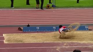 170717 世界パラ陸上ロンドン T47 Men Triple Jump Final 芦田創 13m58 (+0.4)