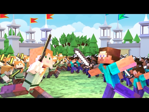 Minecraft | 100 BOYS VS 100 GIRLS! (Massive Mob Battles)