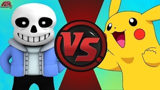 SANS vs PIKACHU! (Undertale vs Pokémon) Cartoon Fight Club Episode 129