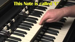 HAMMOND ORGAN & KEYBOARDS FOR BEGINNERS LESSON #1 - B3 and C3 - KEYBOARDS