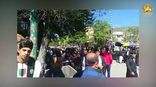 BANEH, Iran. Continued strikes by shopkeepers&Bazar merchants for the third consecutive day