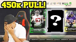 OMG 450K PULL! BEST PULL OF THE YEAR! | Madden 18 Ultimate Team Pack Opening