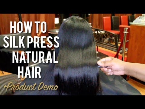 Xxx Mp4 How To SILK PRESS Natural Hair Tutorial Product Demo 3gp Sex