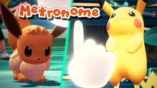 PIKACHU VS EEVEE METRONOME BATTLE - Pokémon Let's Go Pikachu & Let's Go Eevee