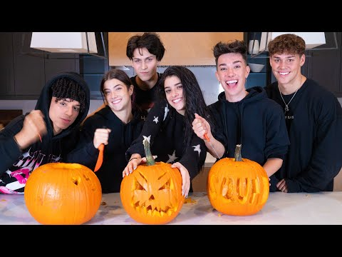 Carving Pumpkins with my Best Friends ft Charli Noah James Chase & Larray Dixie D Amelio